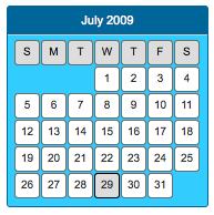 CSS unordered list calendar